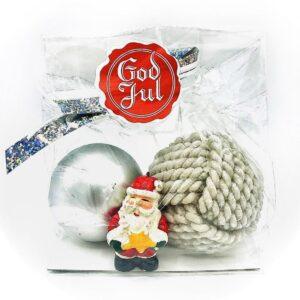 Presentpåsar julklapp - Julkula, tomte, klotljus, jul