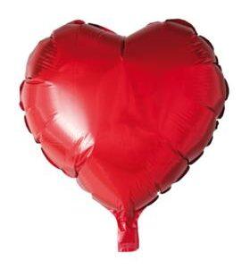 Stor folieballong hjärta 46x50 cm