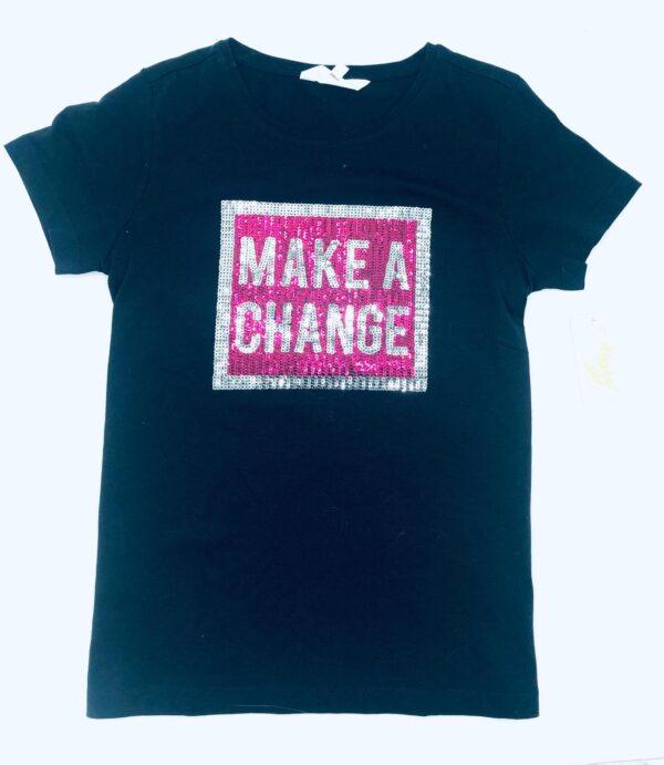 T-shirt m paljetter stl 158/164