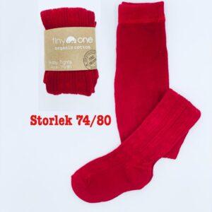 """Röda strumpbyxor """"Tiny One"""" stl 74/80 jul"""