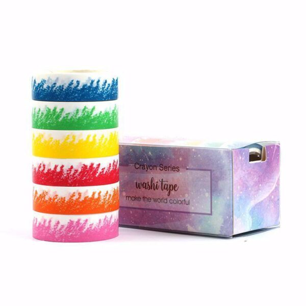 "Washi Tape ""Crayon Series"" 6 st"