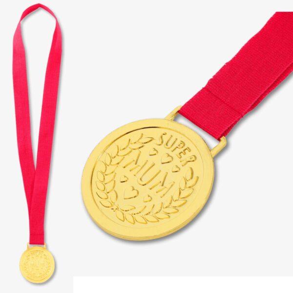 """Medalj till mamma - """"Super Mum"""" - FRI FRAKT"""