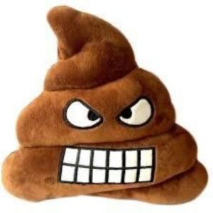 Emoji Poop kudde 35x35 cm