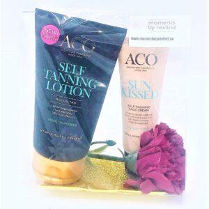 Presentpåse - ACO Brun Utan Sol 2 st produkter för kropp resp ansikte