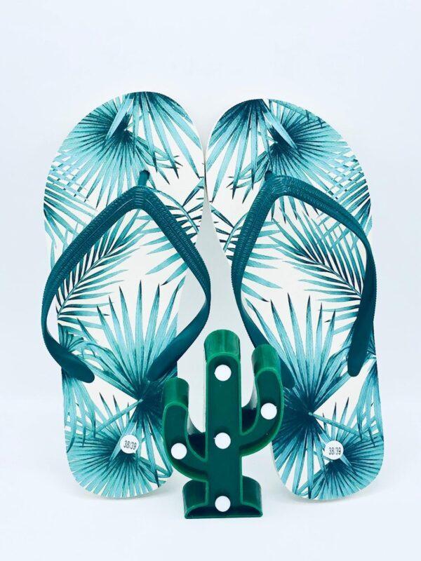 Presentpåse Tropic - Flipflops 38/39 med LED-kaktus