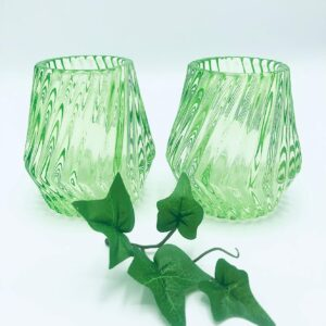 Presentpåse: limegröna ljuslyktor 2 st