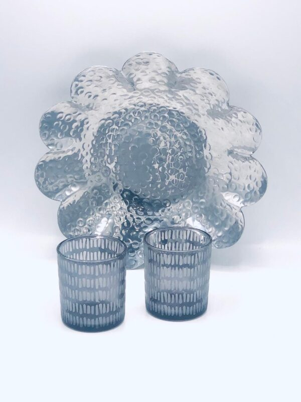 Presentpåse: Silverfat och glaslyktor