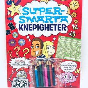 """Present - Pysselbok """"Supersmarta hemligheter"""" och 9 färgpennor"""