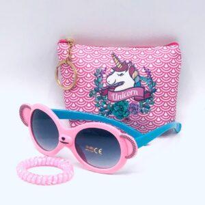 Presentpåse: Necessär/börs, solglasögon, totteband