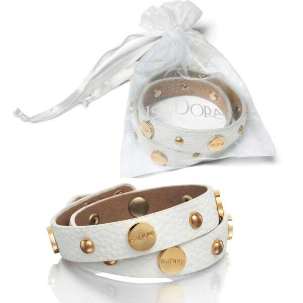 """Presentpåse: ISADORA """"Logo wrap Bracelet"""" Armband i organzapåse (FRI FRAKT)"""