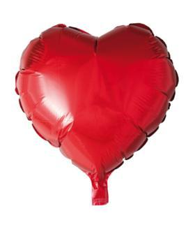 Present: Stor folieballong HJÄRTA 46x50 cm