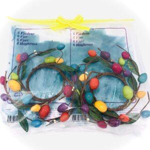 Presentpåse påsk - Påskfjädrar, ägg dekorationer