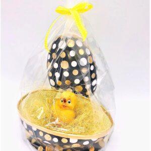 Presentpåse påsk - Lyxigt påskägg med kyckling i sisal