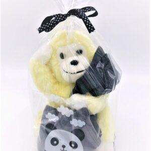 Presentpåse: Gosedjur, babybyxor 56, dregglis