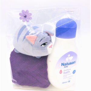Presentpåse: Babybad, gosedjur, frottehandduk