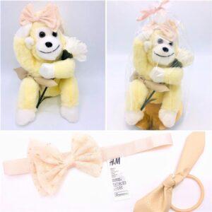 Presentpåse: Gosedjur, totteband, hårband