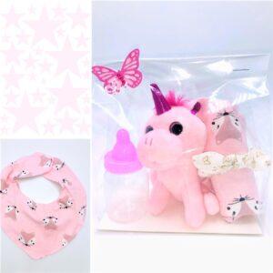 Presentpåse: Dregglis, enhörning, totteband, dekoration