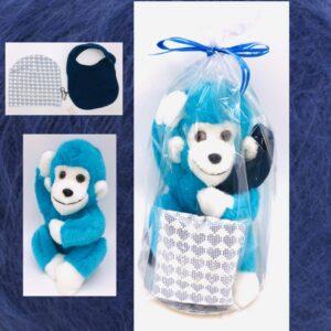 Presentpåse - Mjukisdjur, bebismössa och dregglis