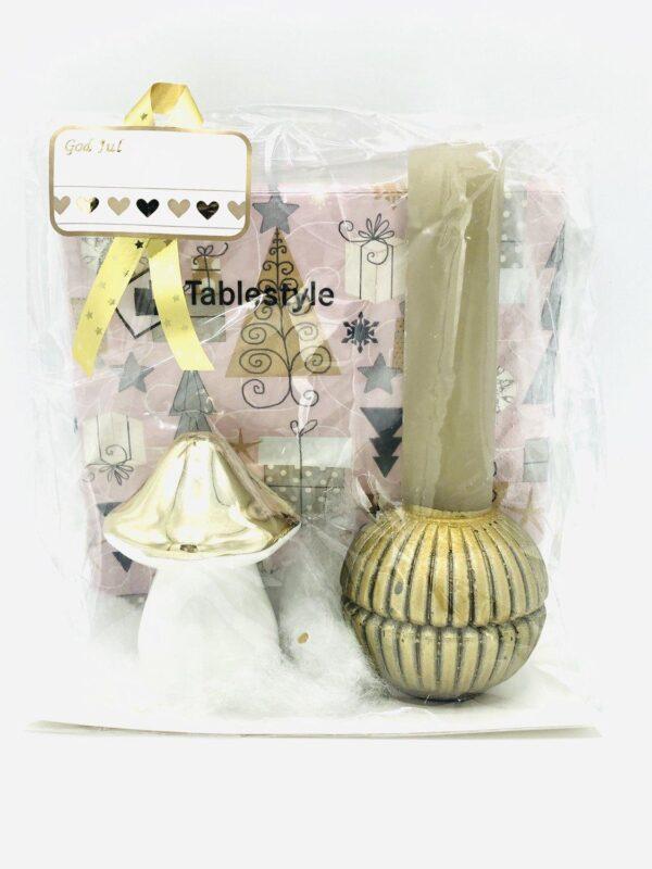 Presentpåse jul - Servetter, ljus, svamp