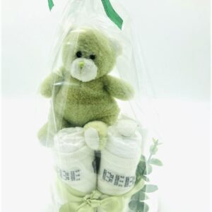 Startpaket bebis - blöjtårta Ljusgrön