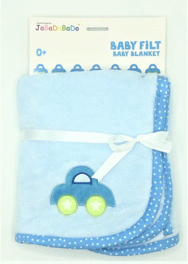 Present - Jabadabado Baby blanket ljusblå