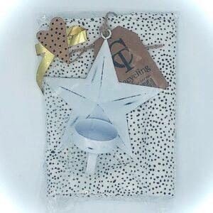 Presentpåse - Kökshandduk, ljushållare stjärna