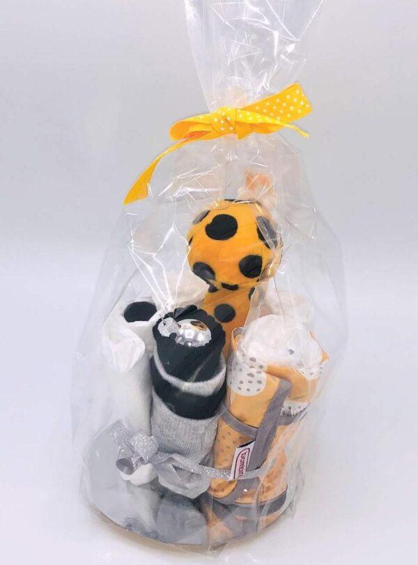 Startpaket bebis - blöjtårta Gul/svart/grå