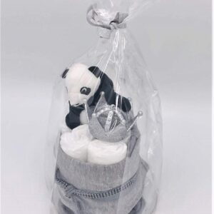 Startpaket bebis - blöjtårta Silver/svart