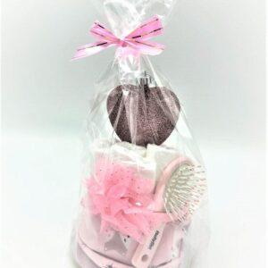Startpaket bebis - blöjtårta Rosa/glitter