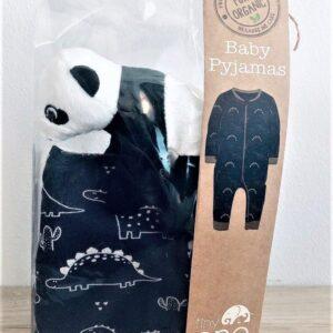 Presentpåse - Babypyjamas storlek 68 och liten panda