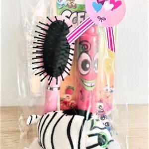 Presentpåse - Ty gosedjur, Scented penna jordgubbe, hårborste