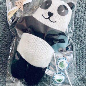Presentpåse - Stor söt panda och 2 klubbor