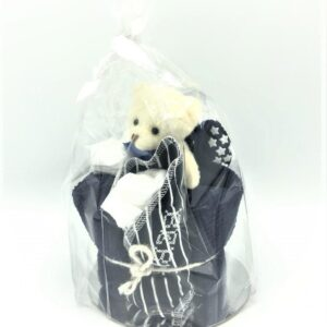 Startpaket bebis - blöjtårta Marinblå