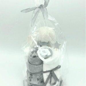 Startpaket bebis - blöjtårta Silver/grå