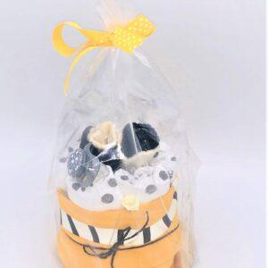 Startpaket bebis - blöjtårta Gul/svart