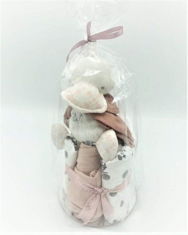 Startpaket bebis -blöjtårta Rosa