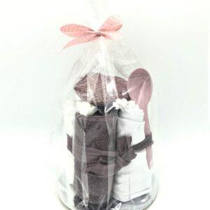 Startpaket bebis - blöjtårta Mörkrosa