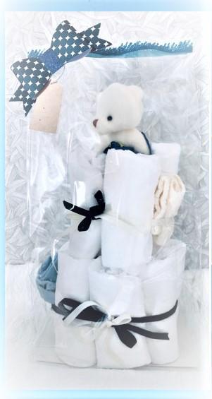 Startpaket bebis - blöjtårta Blå