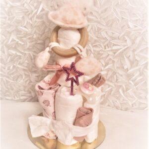 Startpaket bebis - blöjtårta Rosa
