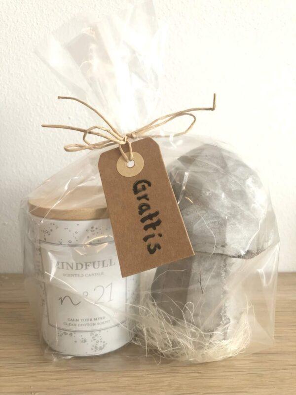 Clean cotton paketet; doftljus och betongsvamp