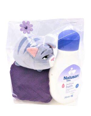 Presentpåse: Frottehandduk, Natusan bedtime bath, Ty gosedjur