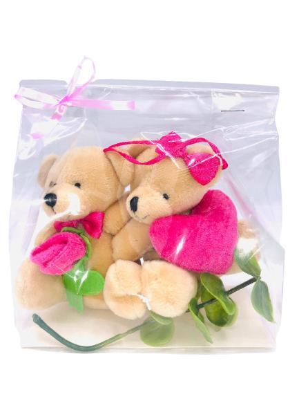 Alla hjärtans dag present: nallar med hjärta och ros