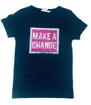 T-shirt m paljetter stl 170
