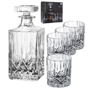 5 pack whiskey set - karaff och glas